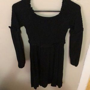 Rouched off the shoulder dress